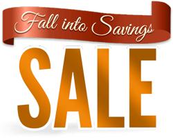 Fall Into Savings Sale Banner